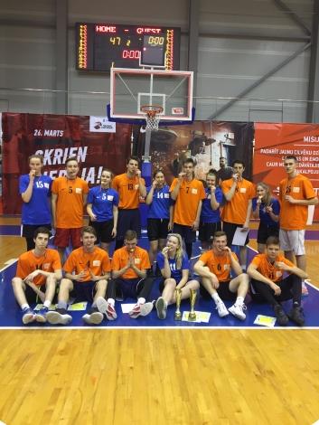 Dubultuzvara pilsētas skolu sacensības basketbolā
